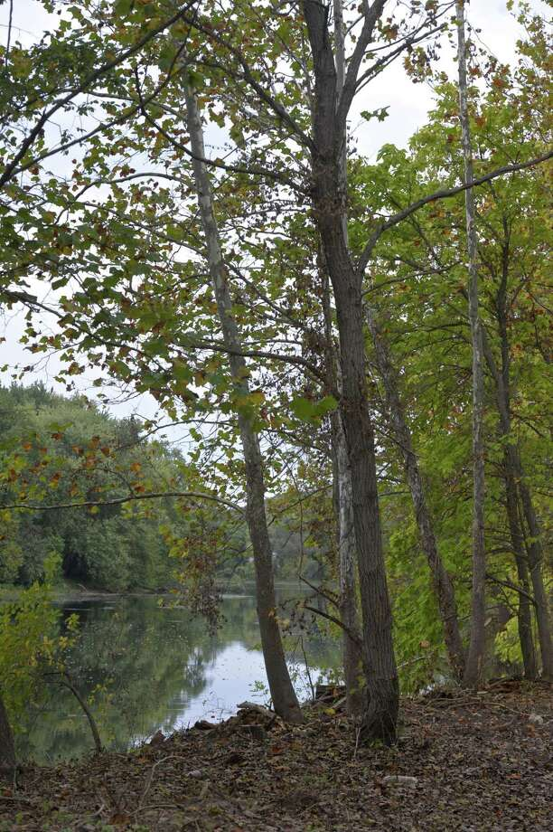 The view of the Housatonic River from a new park New Milford is working on creating on16 acres of land it has owned along the river since 1977. Called Hidden Treasures Park it is located on West Street. Wednesday, October 11, 2017, in New Milford, Conn. Photo: H John Voorhees III / Hearst Connecticut Media / The News-Times