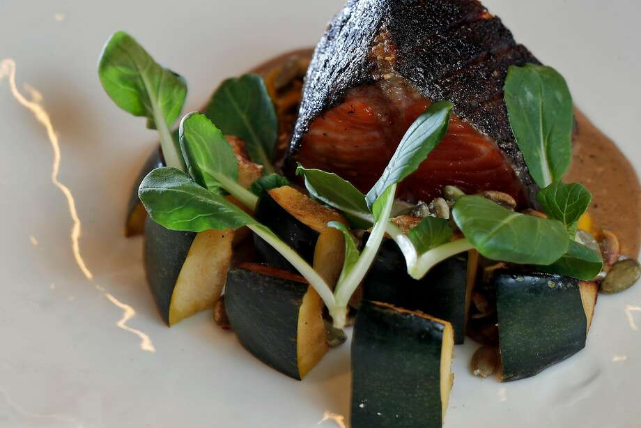 Trout grilled on the bone with roasted squashat the new Gibson. Photo: Carlos Avila Gonzalez, The Chronicle