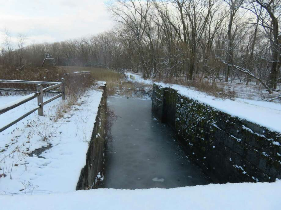 Historic Lock 19, once a busy waypoint on the Erie Canal, can now be reached only by foot. (Herb Terns / Times Union)