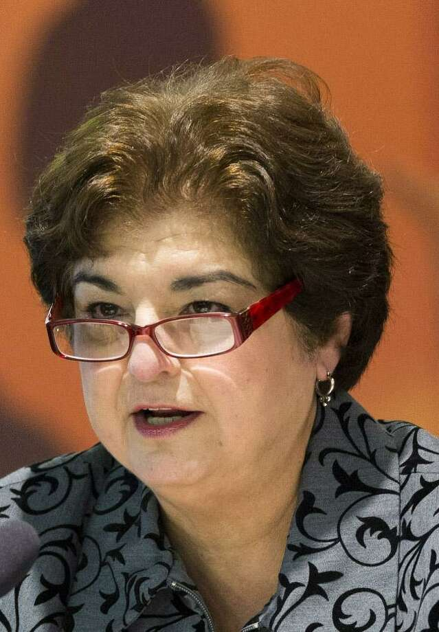 Former San Antonio ISD trustee Olga Hernandez is on trial in a federal bribery case. Photo: Ray Whitehouse / For The San Antonio Express-News
