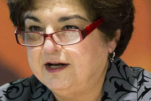 Former San Antonio ISD trustee Olga Hernandez is on trial in a federal bribery case.