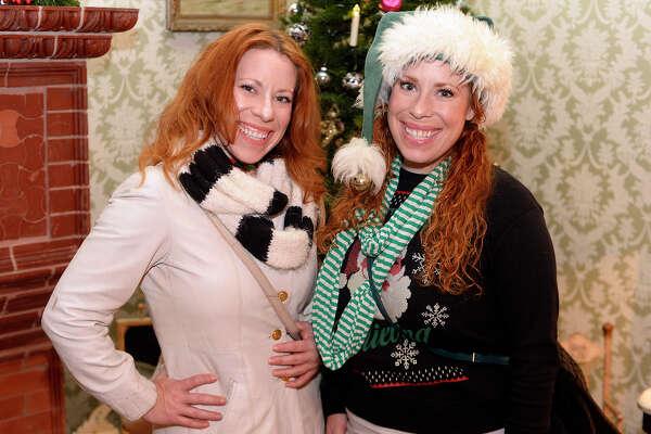 Elizabeth and Rachel Ryall at the Chambers House Christmas open house on Thursday evening.  Photo taken Thursday 12/14/17 Ryan Pelham/The Enterprise