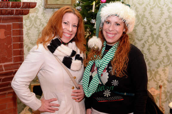 Elizabeth and Rachel Ryall at the Chambers House Christmas open house on Thursday evening.  Photo taken Thursday 12/14/17 Ryan Pelham/The Enterprise