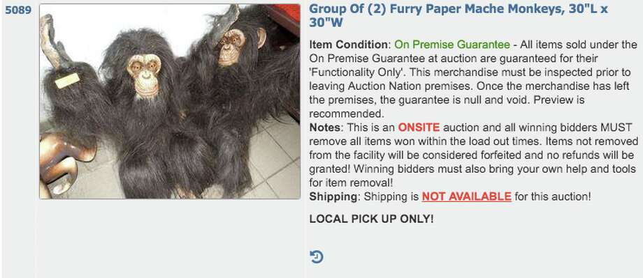 Decor from San Francisco's shuttered Rainforest Cafe is up for auction. The bidding started last week and ends Tuesday. Photo: Screenshot Auction Nation
