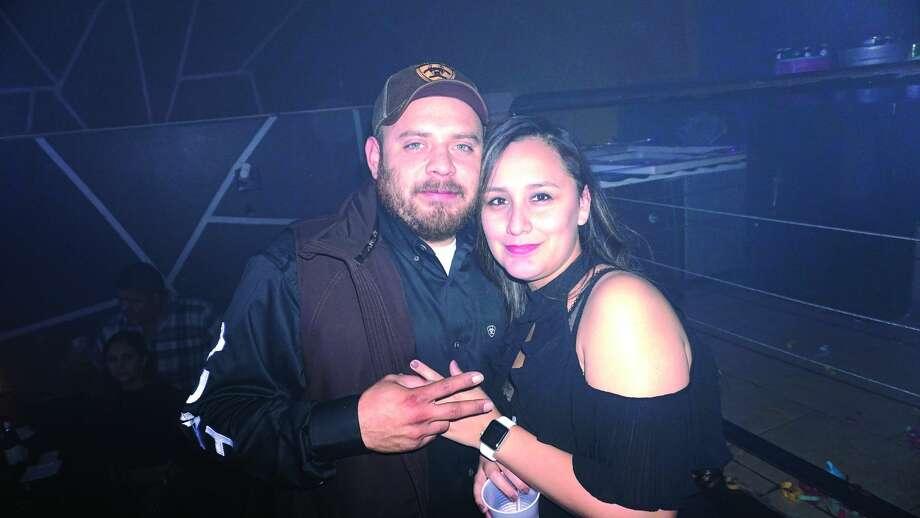 Jonathan and Leslie Herrera at Club VibeFriday, December 15, 2017 Photo: Jose Gustavo Morales