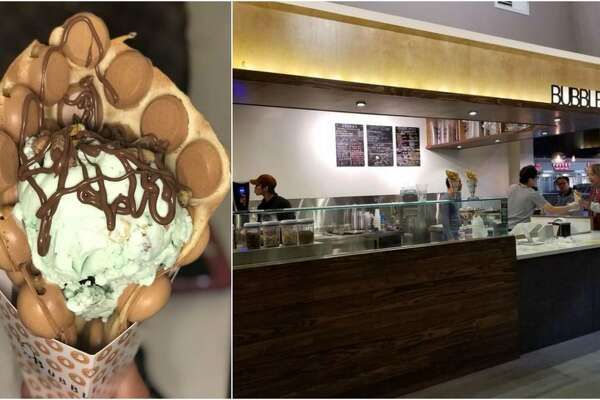 """Bubble Egg at 9188 Bellaire Blvd. features gai daan zai, also known as""""bubble waffles."""""""