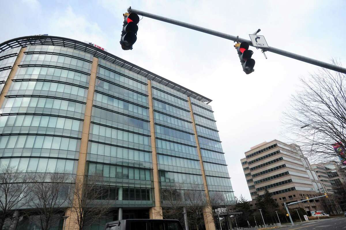 UBS' local offices are located in the Royal Bank of Scotland-owned building, left, at 600 Washington Blvd., in downtown Stamford, Conn.