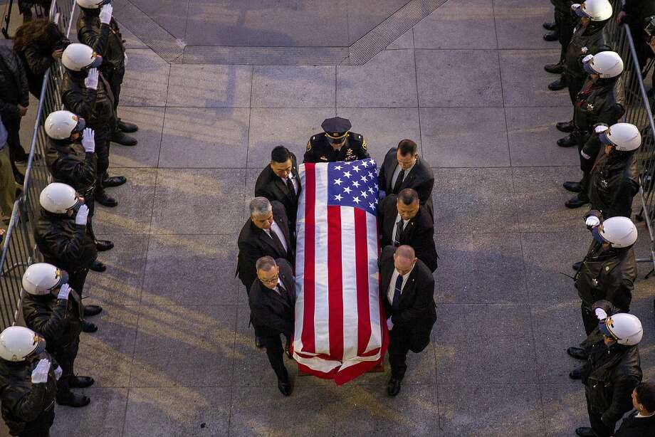 The casket of San Francisco Mayor Ed Lee is carried into City Hall on Friday, Dec. 15, 2017, in San Francisco, Calif. Mayor Ed Lee was lain in state at the rotunda of City Hall. Lee died on Tuesday from a heart attack. He was 65 years old. Photo: Santiago Mejia, San Francisco Chronicle