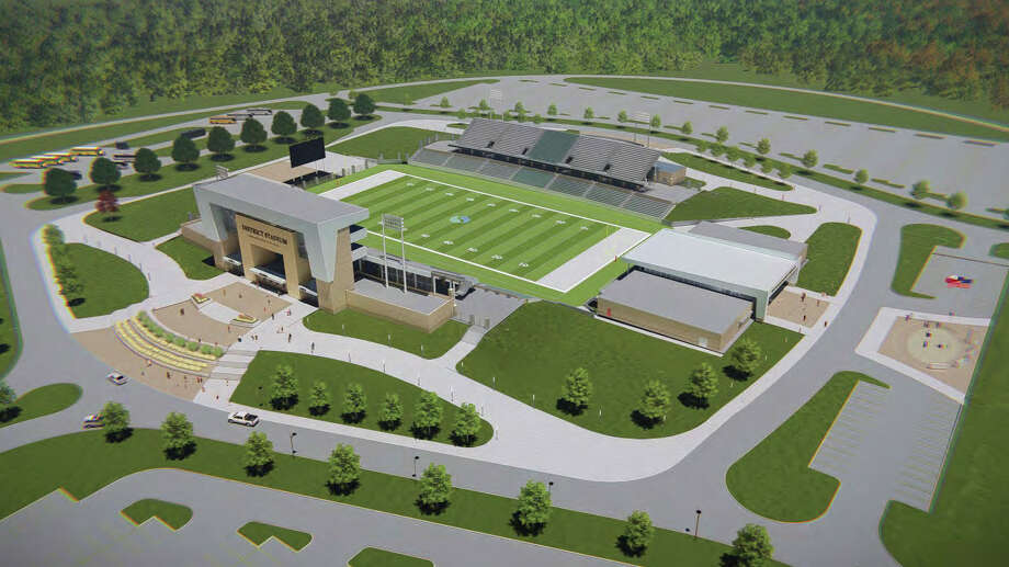 Overview rendering of Spring ISD new stadium. / handout