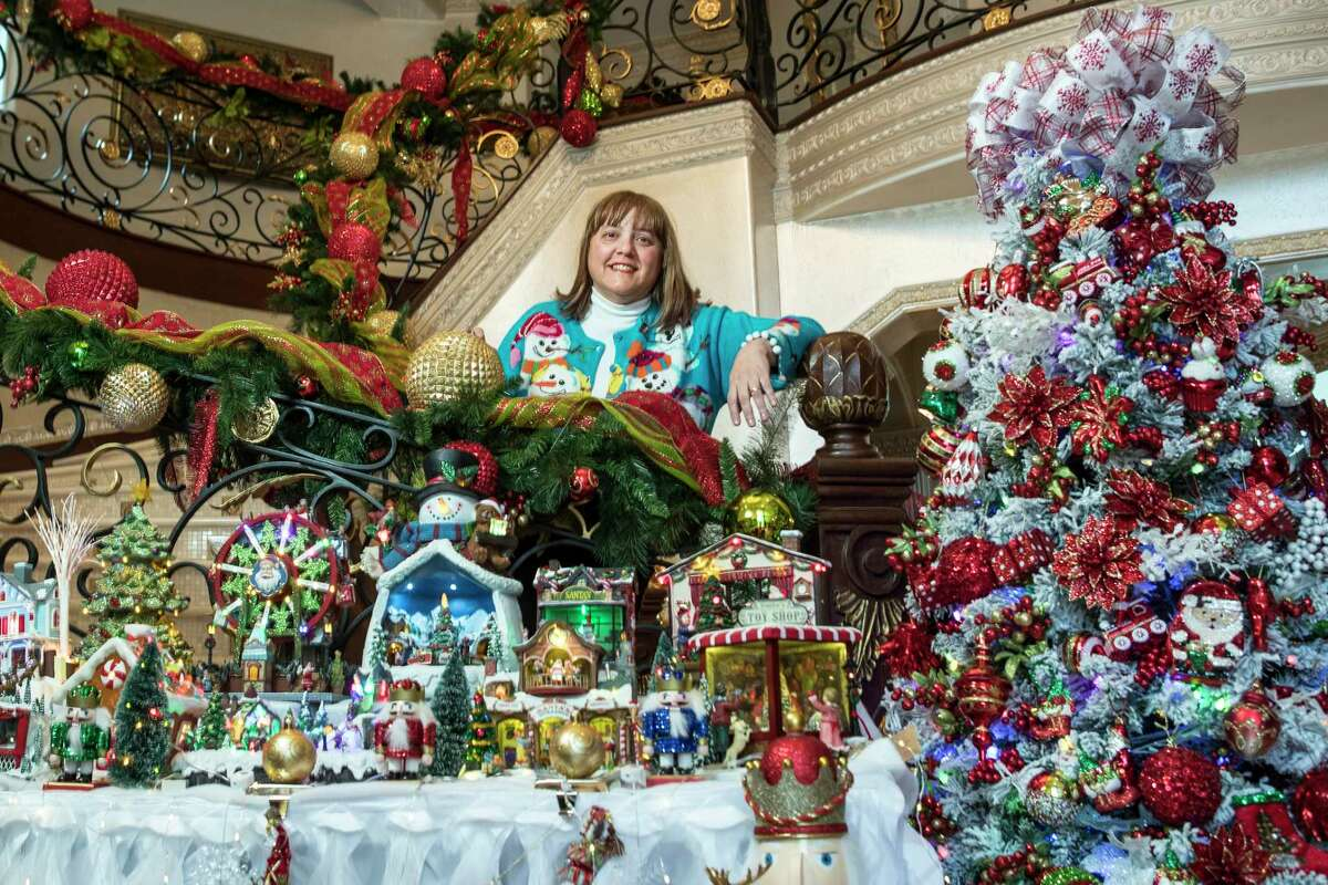 Nagwa Elrafie poses for a portrait surrounded by her Christmas decorations on Thursday, Dec. 7, 2017, in The Woodlands. ( Brett Coomer / Houston Chronicle )