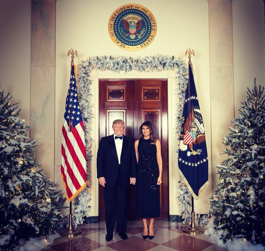 An official Christmas portrait of President Donald J. Trump and First Lady Melania Trump on Thursday, Dec. 14, 2017. Photo: White House Photo By Andrea Hanks