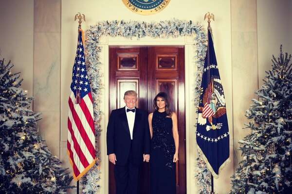 An official Christmas portrait of President Donald J. Trump and First Lady Melania Trump on Thursday, Dec. 14, 2017.