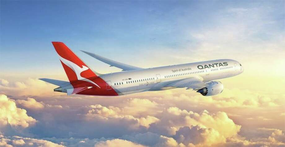 The Qantas kangaroo gets a modernized redesign on the tail of its new 787-9s.