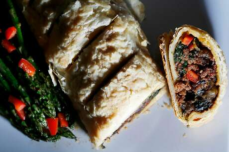 Chef Tamearra Dyson's vegan Wellington at her restaurant, Souley Vegan, in Oakland. Photo: Lea Suzuki, The Chronicle