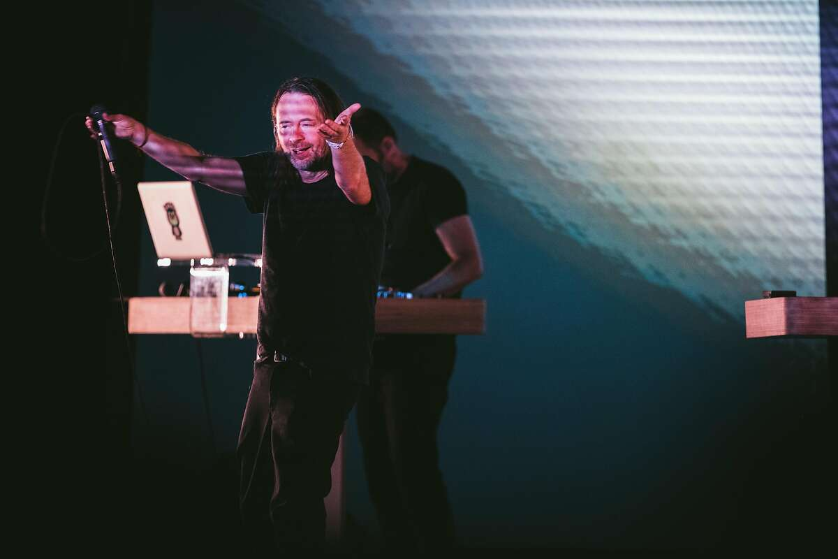 Thom Yorke playing the Fox Theater in Oakland, California, on December 14th, 2017.