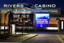 Exterior of Rivers Casino & Resort at night on Thursday Feb. 2, 2017 in Schenectady, N.Y. (Lori Van Buren / Times Union)