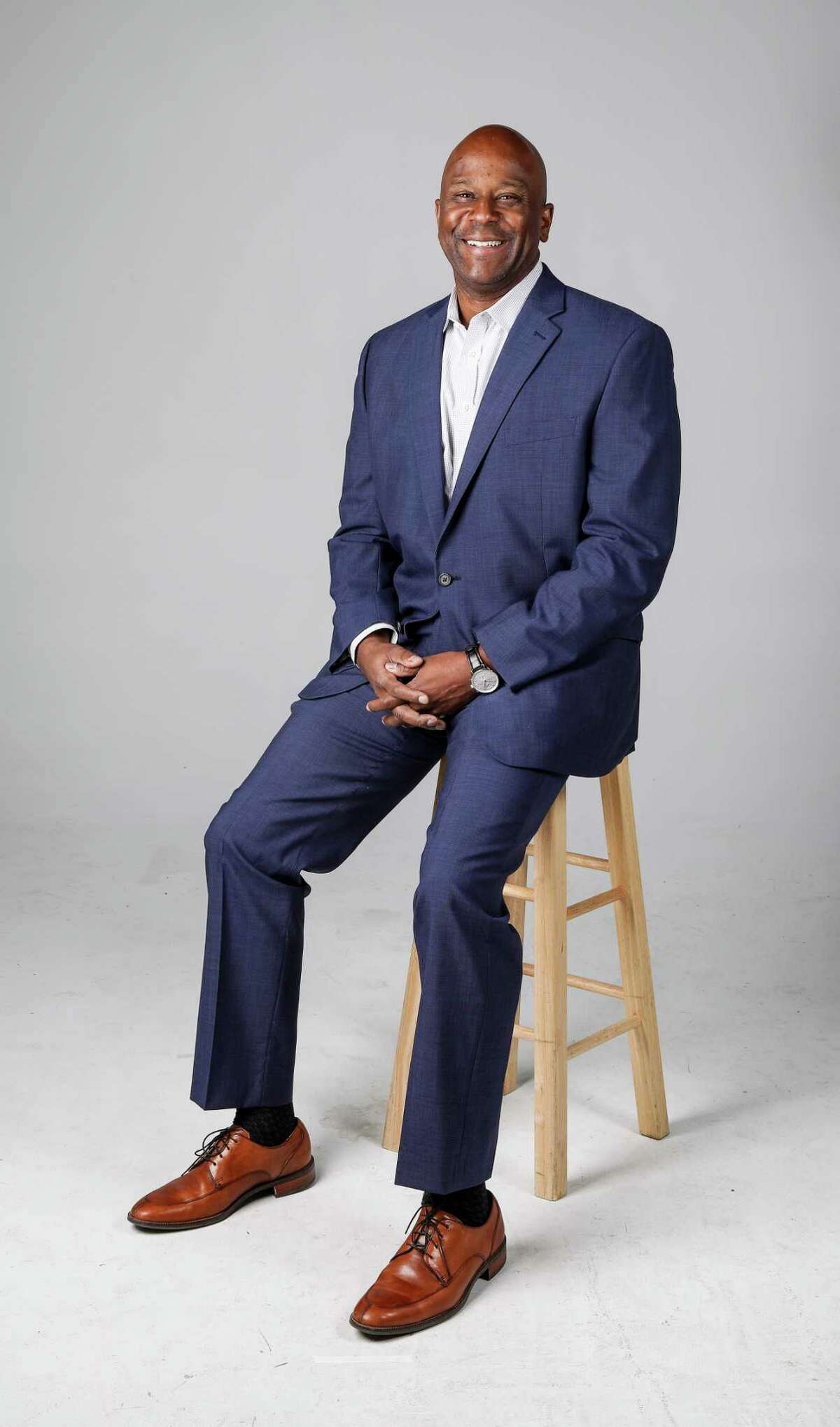 James Miller, division president of Empire Communities, poses for a portrait at the Houston Chronicle studio, Thursday, Oct. 26, 2017, in Houston. ( Jon Shapley / Houston Chronicle )