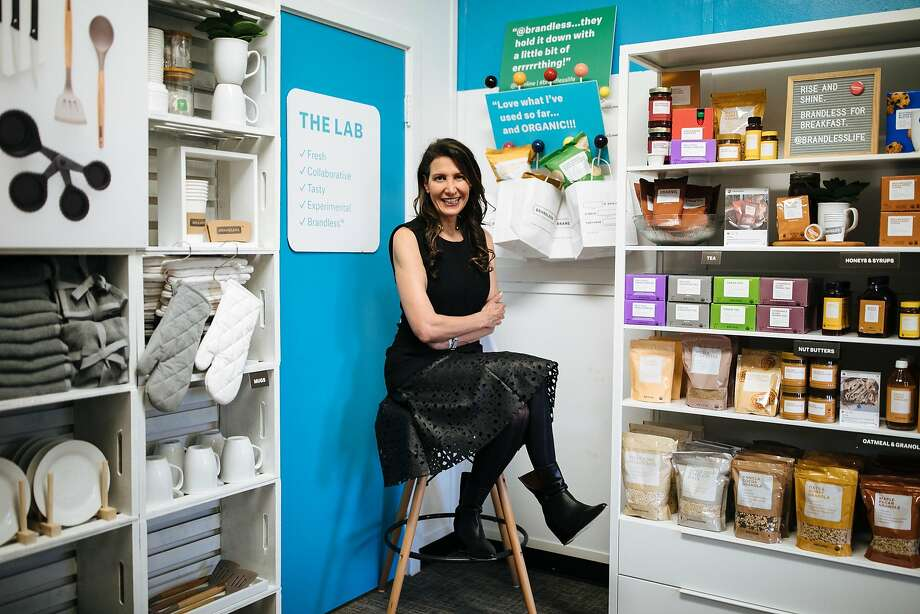 Brandless CEO Tina Sharkey sits in The Lab at the company's office in San Francisco. Brandless sells about 250 generic products for $3 each. Photo: Mason Trinca, Special To The Chronicle