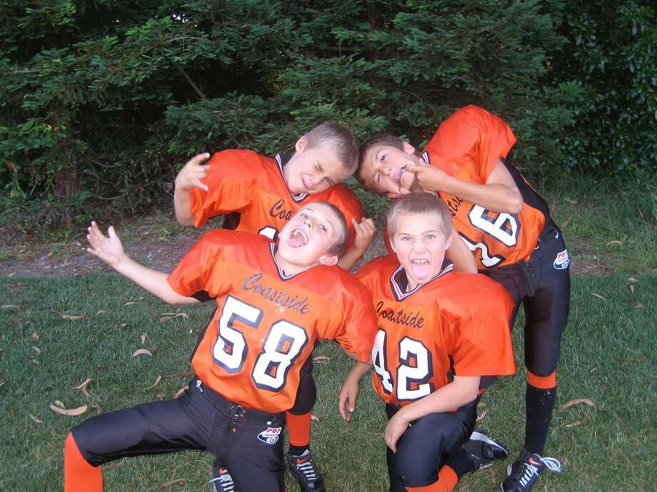 Several members of the Half Moon Bay High football team have been playing together since they were in Pop Warner. Photo: Courtesy Art