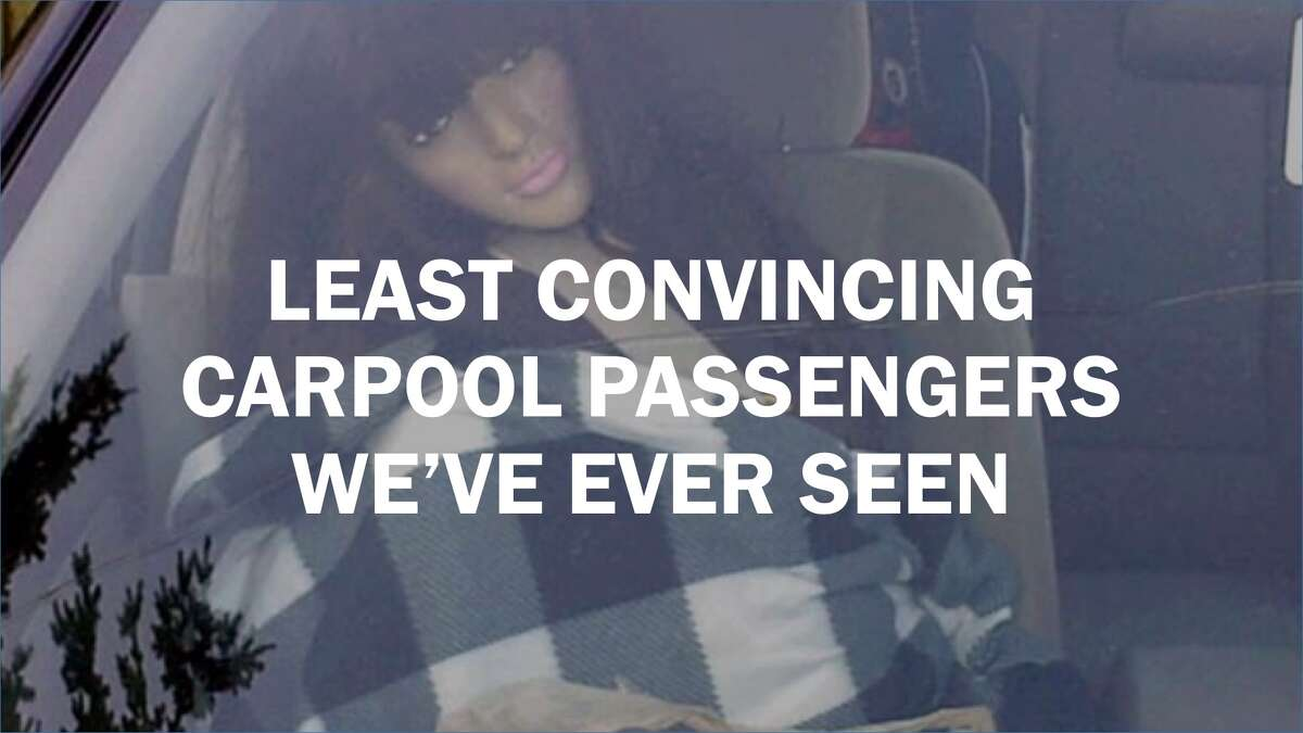 Least convincing carpool passengers we've ever seen