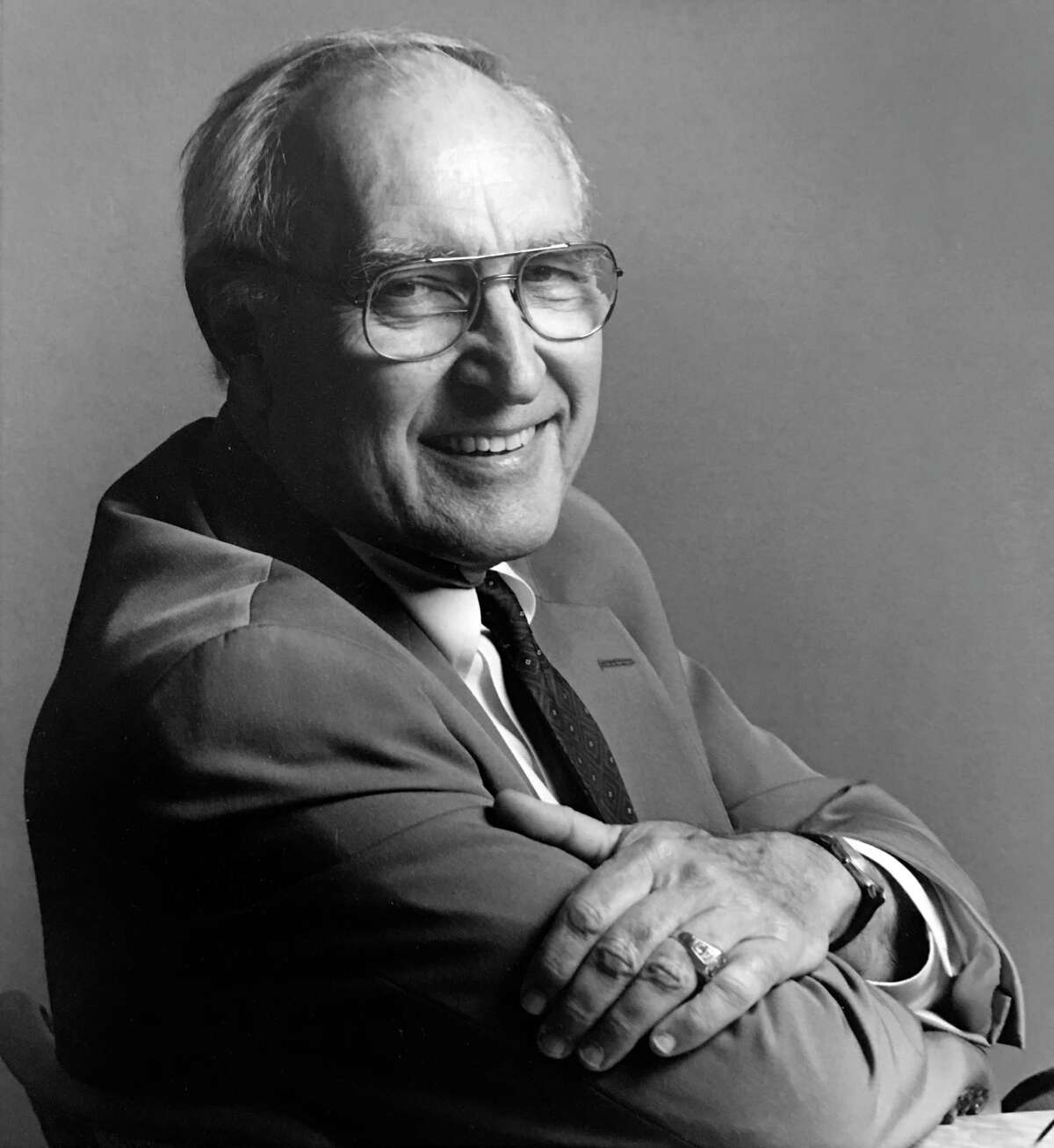 """Architect Ben Koush and Houston Mod are being honored for""""Constructing Houston's Future: The Architecture of Arthur Evan Jones & Lloyd Morgan Jones,"""" which Koush wrote and Houston mod published. Shown is architect Arthur Evan Jones, of the former Lloyd Morgan & Jones architecture firm."""