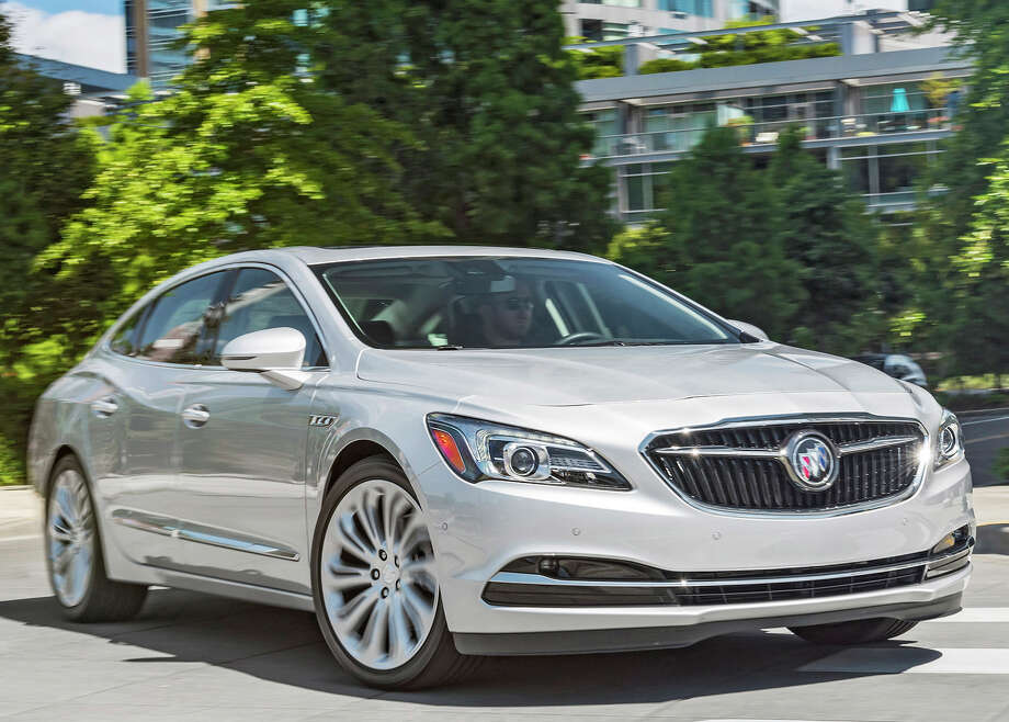 The 2018 Buick LaCrosse five-passenger premium midsize sedan comes with a 2.5-liter four-cylinder engine with eAssist and a six-speed automatic transmission, or an optional 310-horsepower, 3.6-liter V-6 engine paired with a nine-speed automatic transmission. Photo: Buick / Jessica Lynn Walker