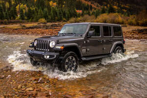 Jeep said its new 2018 Wrangler can ford water as deep as 30 inches. The four-door Rubicon has an approach angle of 43.9 degrees, breakover is 22.6 degrees and departure is 37 degrees.
