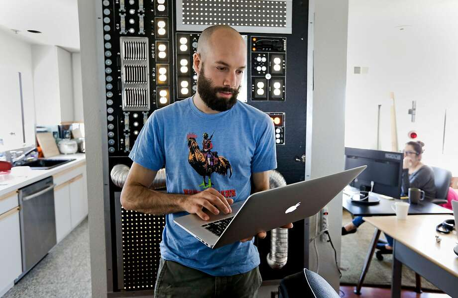 Patreon co-founder Jack Conte, at their home offices in San Francisco,  Calif. on Tuesday June 24, 2014.  Patreon, a crowd-funding platform for modern-day patronage of digital artists -- from musicians to online comic book creators. Unlike Kickstarter or IndieGoGo, which target specific projects, Patreon allows for ongoing funding so artists can count on revenue streams to support themselves. Photo: Michael Macor, The Chronicle