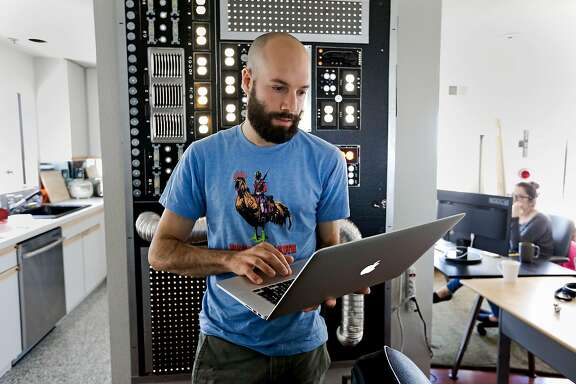 Patreon co-founder Jack Conte, at their home offices in San Francisco,  Calif. on Tuesday June 24, 2014.  Patreon, a crowd-funding platform for modern-day patronage of digital artists -- from musicians to online comic book creators. Unlike Kickstarter or IndieGoGo, which target specific projects, Patreon allows for ongoing funding so artists can count on revenue streams to support themselves.