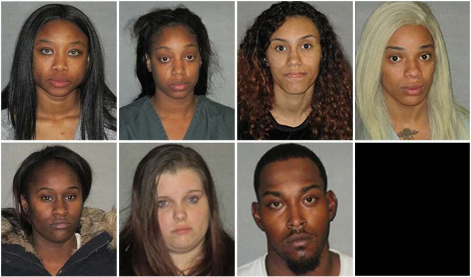 Louisiana police arrested seven people on Tuesday accused of prostitution pandering.See Houston's most popular hotels for prostitution busts. Photo: East Baton Rouge Sheriff's Office Via WAFB