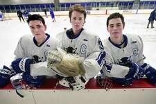 From left, West Haven senior captains Collin Braziel, Logan Cole, and EJ Pacapelli.