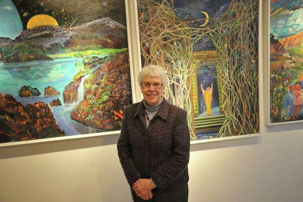 Sister Rosemarie Greco is retiring from Wisdom House after 27 years as the executive director of the Litchfield interfaith center. Above, she stands in the Mary Louise Tritchet Gallery, a space she helped establish to bring artists into the center.