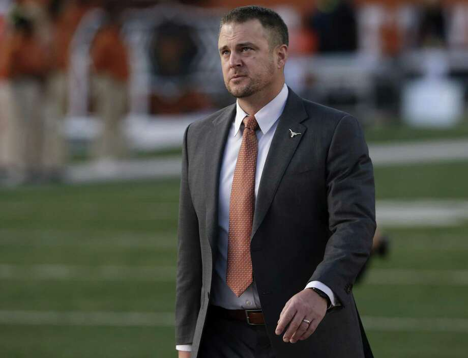 UT's Tom Herman has been all over the country this week. Photo: Tim Warner / Getty Images / 2017 Getty Images