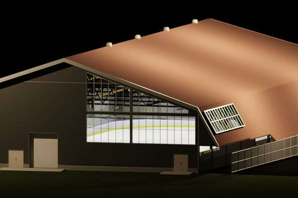 Renderings of the renovated Ralph Walker Ice Rink in New Haven.