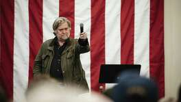 Steve Bannon campaigns for Roy Moore at a rally in Midland City, Ala., on Monday night. But Moore lost, revealing that Trumpism/Bannonism have their limits even in states Trump won big last year.