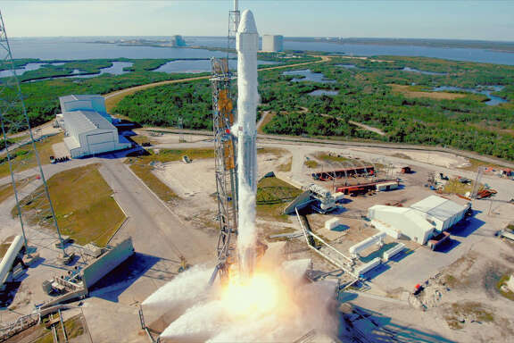 The SpaceX Falcon 9 launched Friday from Cape Canaveral, Fla.