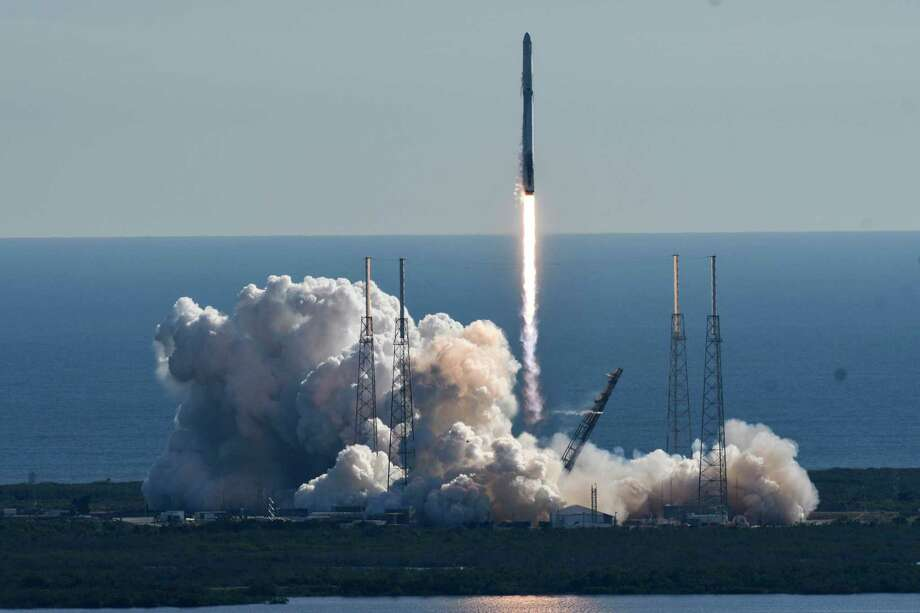 FILE -- A SpaceX Falcon 9 rocket lifts off from newly refurbished Pad 40 at Cape Canaveral Air Force Station, in Cape Canaveral, Fla in this Friday, Dec. 15, 2017 file photo. The rocket carried satellites into space today. Photo: Craig Bailey, MBR / Florida Today