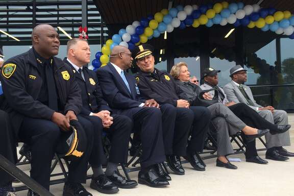 Dozens gathered Friday to celebrate the unveiling of HPD's new police station in southwest Houston