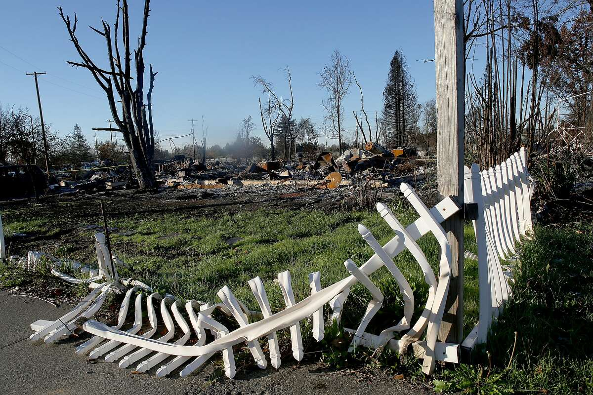 Amy Marlar and her daughter Logyn Marlar lived in this corner home completely destroyed during the Santa Rosa fires seen on Thursday, December 7, 2017, in Santa Rosa, Calif.