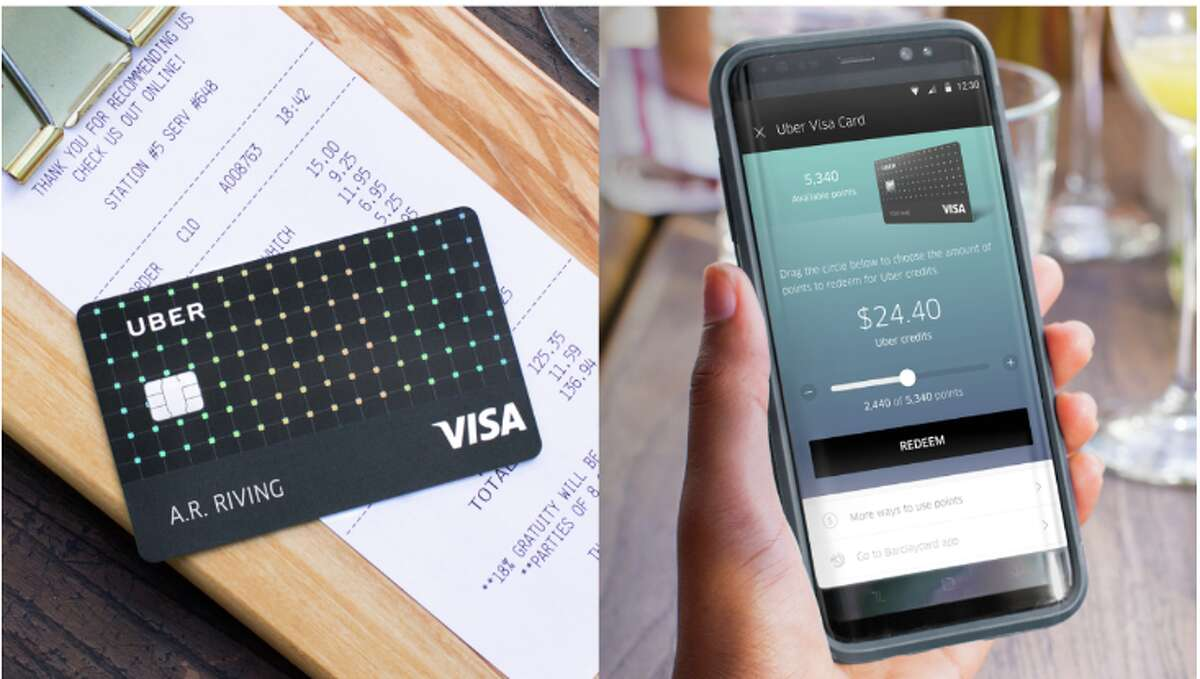 The Uber Visa card earns points you can use for rides or cash back