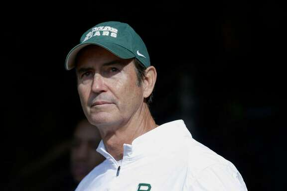 Baylor coach Art Briles stands in the tunnel before a Dec. 5, 2015 game against Texas in Waco, Texas.