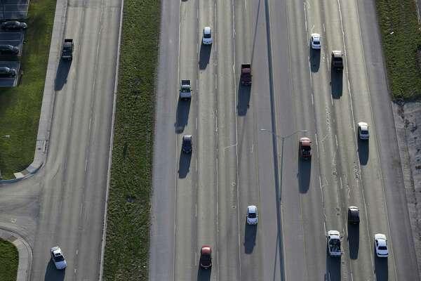 Traffic moves along IH-35 in New Braunfels, Texas, Thursday, Feb. 18, 2016.