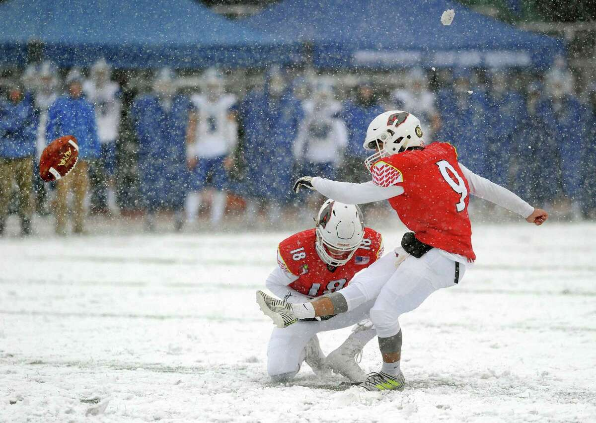 The Class LL high school championship football game between Greenwich High School and Darien High School at Boyle Stadium in Stamford, Conn., Saturday, Dec. 9, 2017. Darien took the state title defeating Greenwich, 31-22.