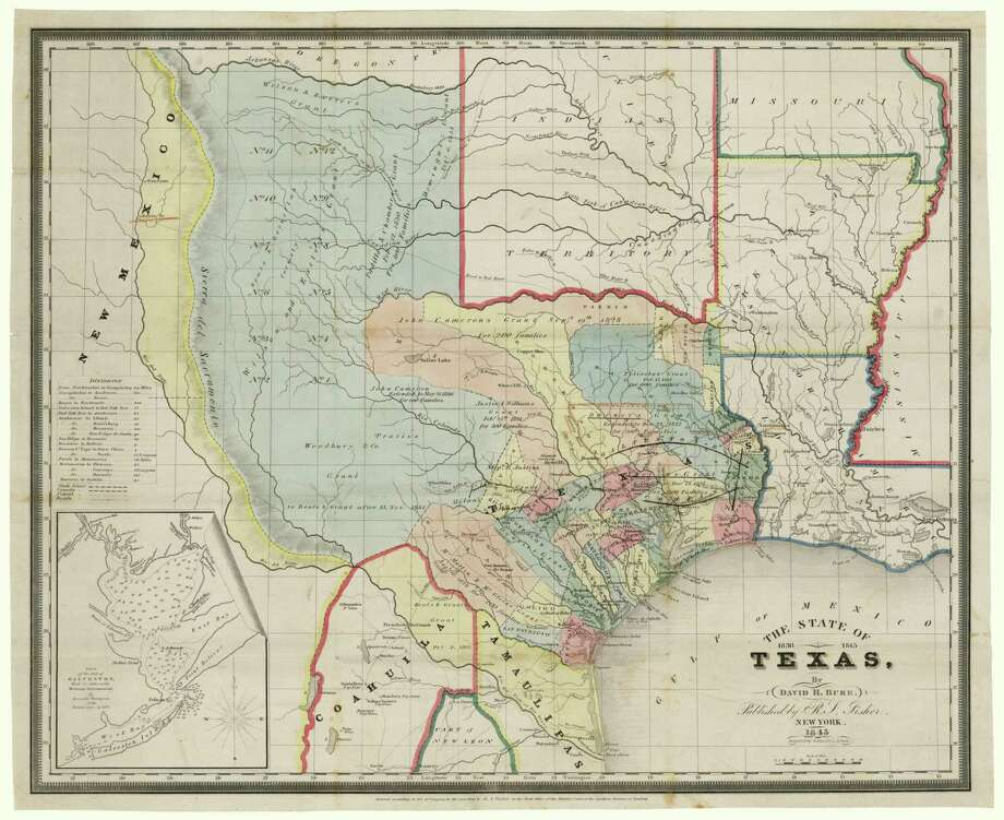 Historic Texas Map Sales Aid Conservation San Antonio ExpressNews - Area map of us 1845