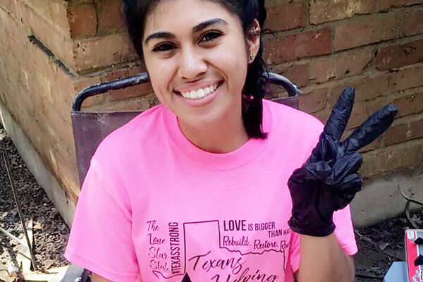 JudithDelgado was one of 40 Lone Star students to receive the emergency checks, which were made possible by a $20,000 contribution from the Scholarship America Foundation and distributed by the university's Lone Star College Foundation.