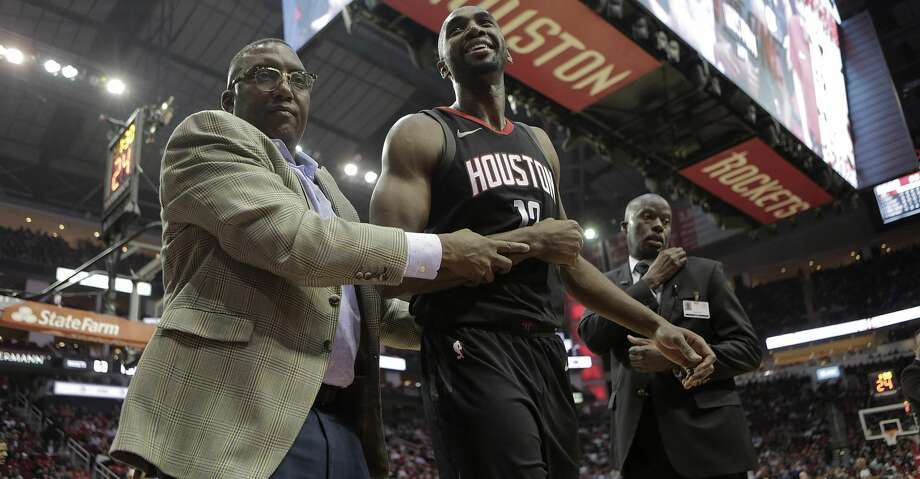 PHOTOS: Rockets game-by-gameRockets forward Luc Mbah a Moute said he felt fortunate that the damage caused when he dislocated his right shoulder on Wednesday was not more serious, leaving him hopeful he could return in two weeks.Browse through the photos to see how the Rockets have fared through each game this season. Photo: Elizabeth Conley/Houston Chronicle
