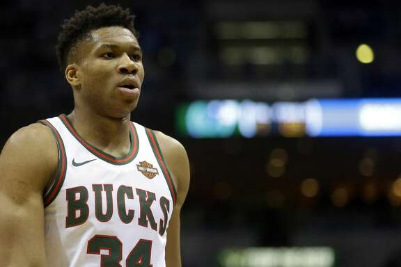 Milwaukee Bucks' Giannis Antetokounmpo during an NBA basketball game against the Dallas Mavericks Friday, Dec. 8, 2017, in Milwaukee. (AP Photo/Aaron Gash)