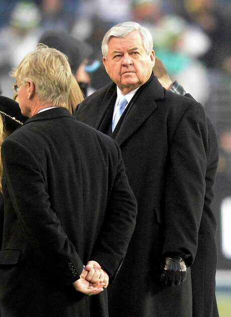 Carolina Panthers owner Jerry Richardson on the field as his team warms up prior to playing the Seattle Seahawks in NFC Divisional Playoff action at CenturyLink Field in Seattle on January 10, 2015. (David T. Foster, III/Charlotte Observer/TNS) Photo: David T. Foster, III, FILE / Charlotte Observer