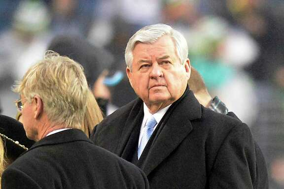 Carolina Panthers owner Jerry Richardson on the field as his team warms up prior to playing the Seattle Seahawks in NFC Divisional Playoff action at CenturyLink Field in Seattle on January 10, 2015. (David T. Foster, III/Charlotte Observer/TNS)