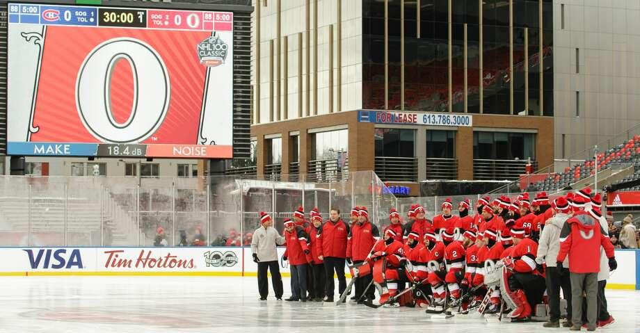 OTTAWA, ON - DECEMBER 15:  Members of the Ottawa Senators pose for a team photo prior to practice at Lansdowne Park on December 15, 2017 in Ottawa, Canada.  (Photo by Jana Chytilova/Getty Images/Freestyle Photo) Photo: Jana Chytilova/Freestyle Photo/Getty Images